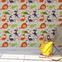Dino and Bones wallpaper removes easy is child safe washable rugged with strong adhesive mural apartment
