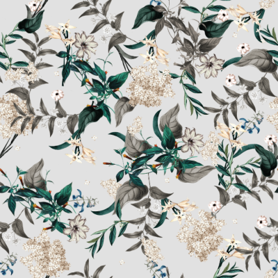 Botanical Wonderland Wallpaper pattern by TackPaper removable peel stick fabric wallpaper. Sticky