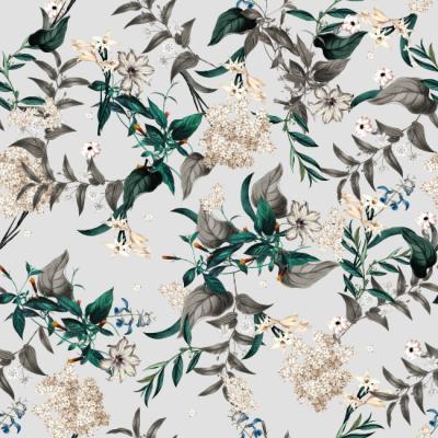 Botanical Wonderland Wallpaper pattern by TackPaper removable peel stick fabric wallpaper. Sticky